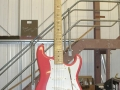 Giant Fender Stratocaster Fiesta Red.