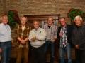 The Red Strats ontmoeten voor hun optreden Jan de Hont .