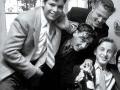1956  Harry Webb 15 jaar met o.m.  Chris Green, John Vince, vrienden van de toneel club.
