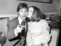 1968  Cliff Richard backstage met Sandie Shaw bij Eurovision Song Contest .