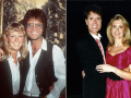 Cliff Richard met vriendinnen Sue Barker (links) en Olivia Newton John (rechts).