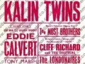Affiche van optreden van The Kalin Twins met Cliff Richard.