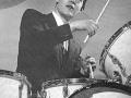 Brian Bennett op Premier White 1961, geschonken door Premier UK na het winnen van drumpolls.