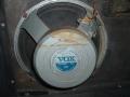 Fane 122-17 Vox label, 12 inch 25 watt 15 ohm Alnico Silver, toegepast op AC15 Twin vanaf 1963 en AC50 MK2 speaker cabinet.