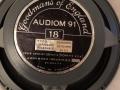 Goodmans Audiom 91 18 inch bass speaker Black label 50 watt 16 Ohm ceramic  in Foundation Bass, top.