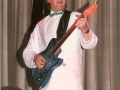 1987 april 10e Harmonie 3e Back to the Fifties avond. Rhythm gitarist van de vermaarde Zweedse band 1961.