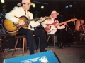 1991 sept 19e Het Wit Paardje middag, Marc Vandermeulen (rhythm) en Jacques Van Hulle (bas) van Guitar Syndicate met acoustische act.