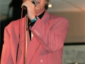 1996 maart 30e Motel Eindhoven middag. Optreden Duitse band Kon Tiki, zanger Gerti Jörling.