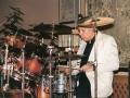 1996 maart 30e Motel Eindhoven middag. Piet Van Maercke drummer bij Guitar Syndicate.