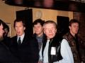 1996 maart 30e Motel Eindhoven. Ton Verhagen ontvangt Keith West en Alan Jones, van Local Hero.