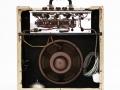 1959 Vox AC10 open back met Britse 6spoke Plessey speaker 10 inch brown. Plessey is in 1917 gesticht in London en in 1968 overgenomen door GEC.
