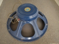 1964 begin Celestion T.1079 ceramic in Azure Blue 18 inch, 15 ohm, 100 watt, gebruikt voor Foundation Bass naast Goodmans en Fane speakers.
