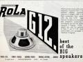 Nieuwe Rola G12 speakers met Alcomax 2 inch magneet uit 1949.