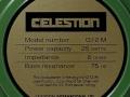 Celestion G12 M 25 w 8 ohm ceramic Celestion International Ipswich label dus All British.