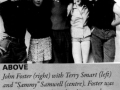 1958 mei The Drifters leden, links Terry Smart (drummer), midden Ian (Sammy) Samwell (leadgitaar) en rechts John Foster (manager).