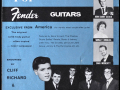 Cliff & The Shadows als endorsers op de JMI-Fender brochure 1961-1962.