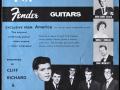 Cliff & The Shadows als endorsers op de JMI-Fender brochure 1961-1962.