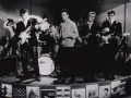 The Shadows met hun Fenders Fiesta Red / Rosewood gitaren en Tony Meehan met zijn nieuwe Gretsch Sparkle drumstel in 1961.