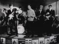The Shadows met hun Fenders Fiesta Red / Rosewood gitaren en Tony Meehan met zijn nieuwe Gretsch Sparkle drumstel in 1961.
