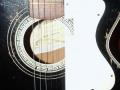Framez Capinera acoustic jazz gitaar 1956, slagplaat met uitsparing voor pickup.