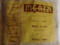 Meazzi Astro serie Jazz acoustische gitaar 1962, label.