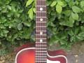 Framez Smeraldo Jazz guitar Redburst 1956, ontwerp Wandre, front.