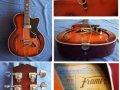 Framez Smeraldo Jazz 1956, uitgebreid met Guyatone pickup.