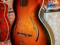 Pre Vox JMI Jennings Jazz Archtop in Hofner style 1963, acoustic body.