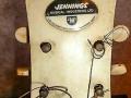 Pre Vox JMI Jennings Jazz Archtop in Hofner style 1963, headstock.