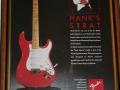 Advertentie voor de USA Custom Shop HM Signature 1990. Deze gitaar wordt wel de premature Signature gitaar genoemd omdat Hank niet tevreden was met de eigenschappen, er zijn er slechts 20 gebouwd tot in 1992 een verbeterde USA CS HM Signature beschikbaar kwam.