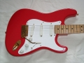 Pickguard van de premature Fender HM Signature USA 1990 met Fender Lace Sensor Gold pick-ups.