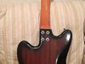 Meazzi Explorer gitaar uit de Hollywood serie 1965 Mahonie, back.