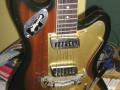 Meazzi Explorer gitaar uit de Hollywood serie 1965 Mahonie, body front.