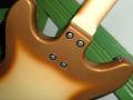 Meazzi Lovely gitaar 2 pickups zonder tremolo Reebruin 1965, geschroefde neck.