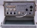 Meazzi Echomatic PA306, frontaanzicht met 3 inputs en 1 output. De oorspronkelijke Geloso aansluitingen zijn vervangen door jacks.