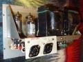 Meazzi Echoamateur PA 296, buizen, eindtrap unit met EZ81 gelijkrichter, ECC83 en 2x EL84.