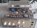 Meazzi Echorama PA 296 1961, eenvoudige echo mixer met eindtrap en 7 dikke weergavekoppen. Klaar voor een opknapbeurt.