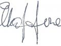 Handtekening Alan Jones.