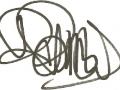 Handtekening Brian Bennett.
