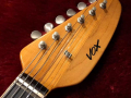 V209 Phantom VI 3 pickups 1964, model EKO Italy, headstock front.