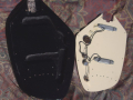 V210 Phantom IV Bass 1964-1966 Black, 2 pickups, fabrikaat EKO Italy, electronica
