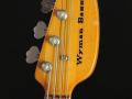V248 Wyman Bass Sunburst 2 pickups 1968, model EKO Italy,  headstock front.
