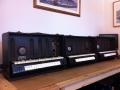 Jennings Univox Organ J6 1955-1959, 3 stuks op een rij.