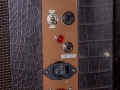 Jennings Univox Organ J6, control panel, Euro mains socket niet origineel.