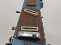Jennings Rifle guitar N.2 The Outlaw Metallic Blue made in Italy 1971, body front.