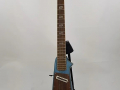 Jennings Rifle guitar N.2 The Outlaw Metallic Blue made in Italy 1971, front.