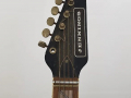 Jennings Rifle guitar N.2 The Outlaw Metallic Blue made in Italy 1971, headstock front met Vox Marauder toets.