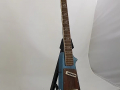 Jennings Rifle guitar N.2 The Outlaw Metallic Blue made in Italy 1971, zijkant.