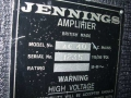 Jennings AC40 typeplaatje.