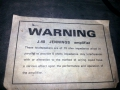Jennings J40 impedantie label.